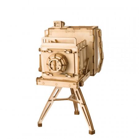 Puzzle 3D din lemn camera foto vintage