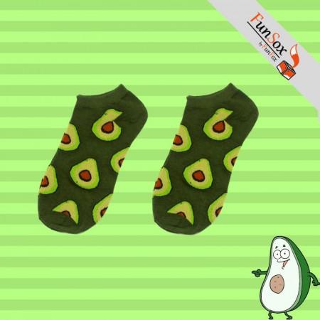 sosete colorate verzi cu avocado