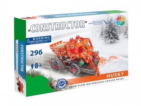 Set constructie Plug de zapada Husky, 296 piese in cutie
