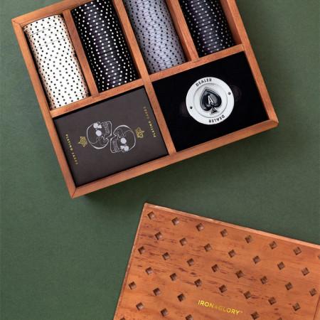 Set poker Deluxe in cutie din lemn