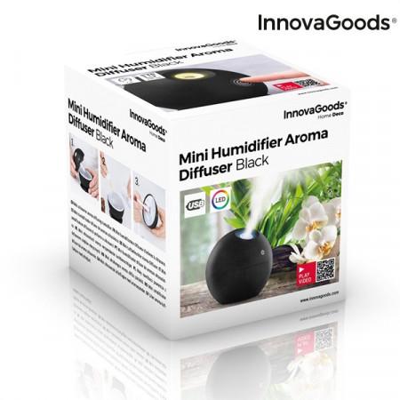 Umidificator si difuzor aromaterapie Negru in cutie