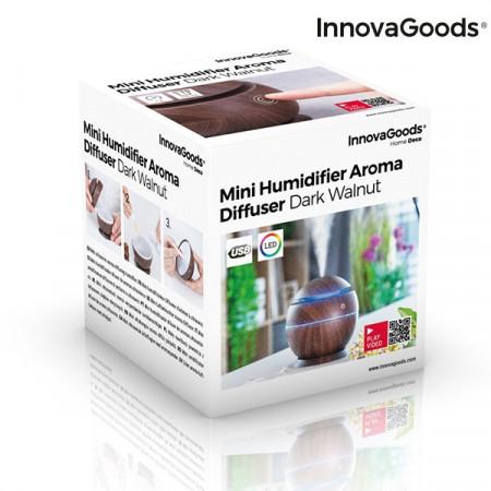 Umidificator si difuzor aromaterapie Walnut in cutie
