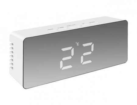 Ceas multifunctional 4 in 1 cu afisare Led Alb temperatura