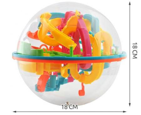 dimensiuni Joc labirint 3D multicolor