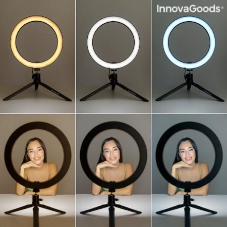 Kit Vlogging cu trepied iluminare LED, suport telefon si telecomanda 1