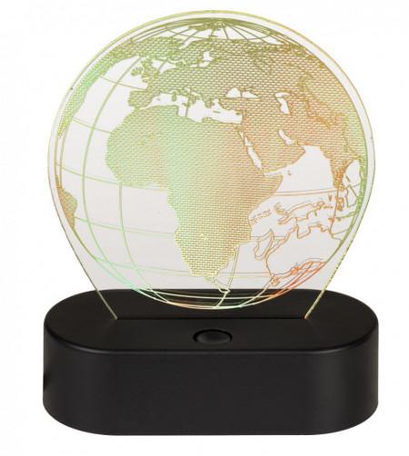 Lampa 3D glob pamantesc galben