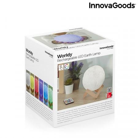 Lampa Glob Pamantesc 3D in culori cu telecomanda in cutie