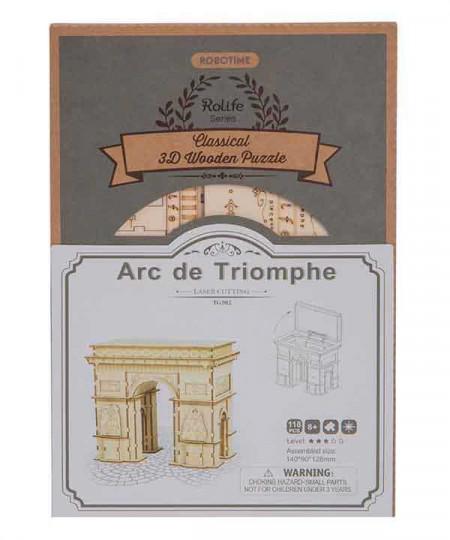 cutie puzzle 3D din lemn Arcul de Triumf