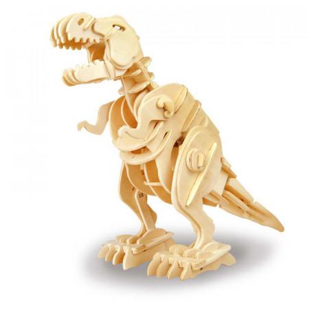 puzzle 3d din lemn dinozaur t-rex controlat prin sunet 1