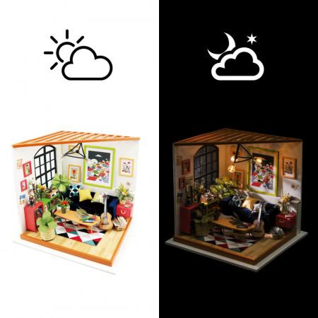 Puzzle 3D lemn Camera de zi si noapte Locus