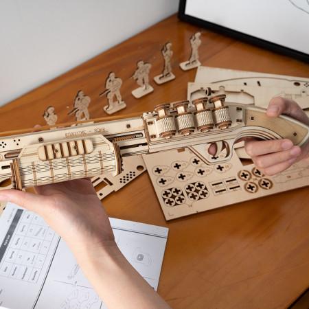 Puzzle 3D lemn Pusca 3