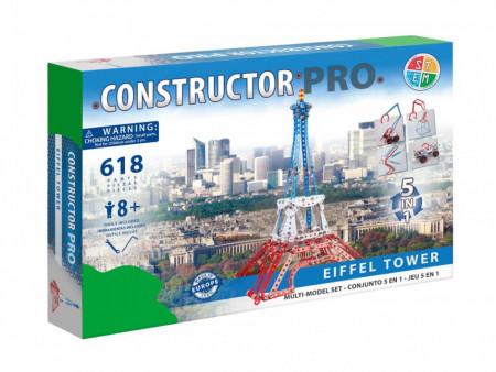 Set constructie Turnul Eiffel 5 in 1 Pro, 618 piese in cutie