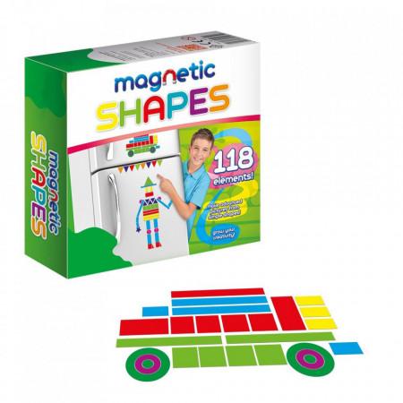Joc magnetic forme geometrice pentru copii de lipit pe frigider