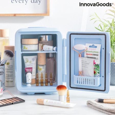 Mini frigider pentru cosmetice deschis