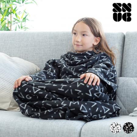 patura neagra cu maneci pentru copii