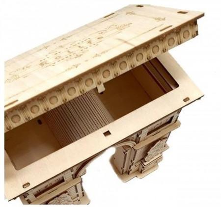 capac deschis puzzle 3D din lemn Arcul de Triumf