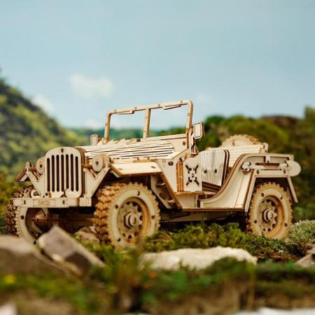 puzzle 3d din lemn masina militara 4