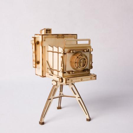 Puzzle 3D din lemn Vintage Camera 1