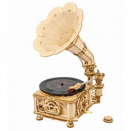 Puzzle 3D lemn Gramofon Clasic