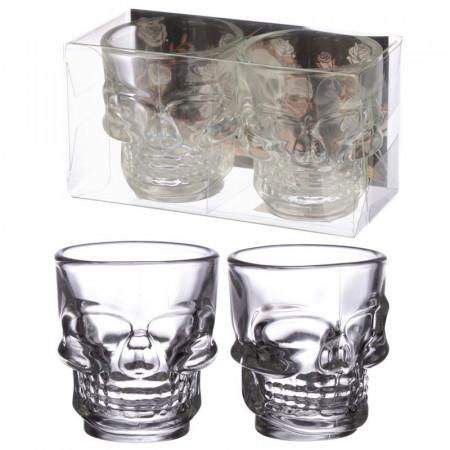 Set 2 pahare shot craniu Skull si cutie