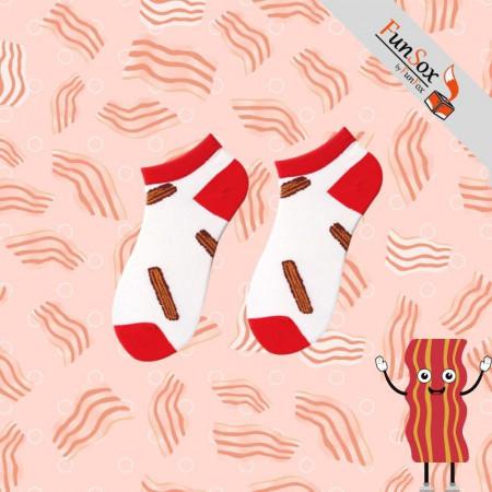 sosete colorate albe cu bacon