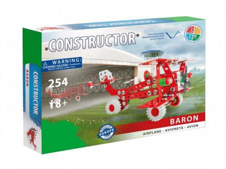 Set constructie Avion Baron, 254 piese in cutie