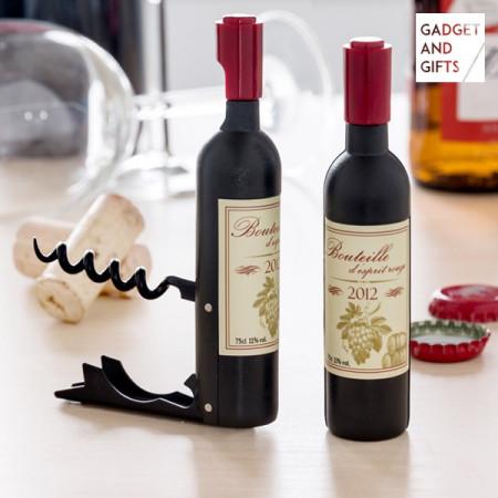 Tirbuson si desfacator magnetic sticla de vin