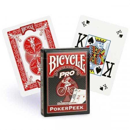 Carti de joc Bicycle Pro Poker Peek rosu