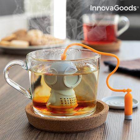 infuzor de ceai scafandru gri cu tub de oxigen