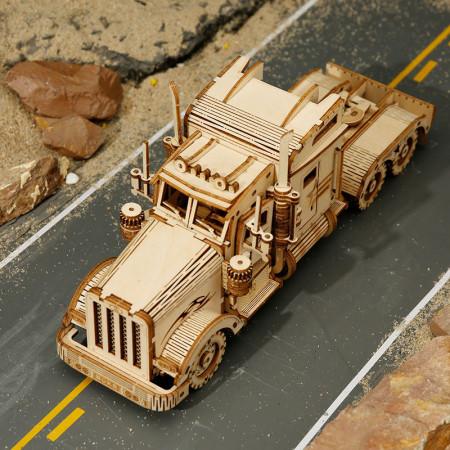 Puzzle 3D lemn Camion pe strada