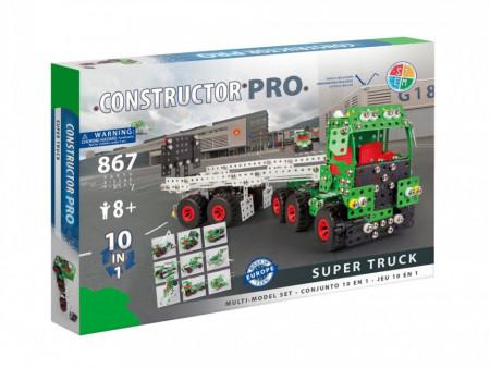 Set constructie Camion 10 in 1 Pro, 867 piese in cutie