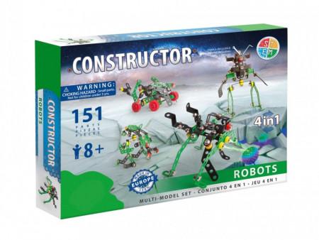 Set constructie Roboti 4 in 1, 151 piese in cutie