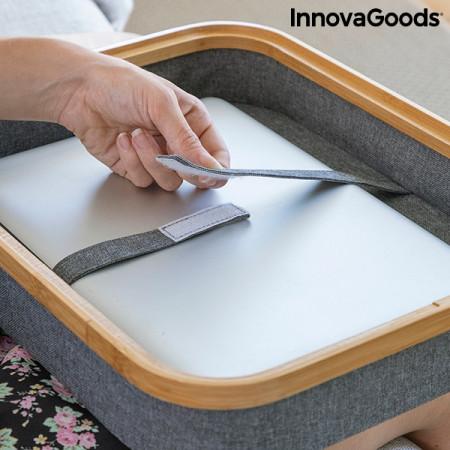 Suport laptop portabil cu depozitare