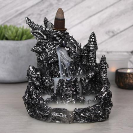 vas aromaterapie cascada de fum dragon argintiu