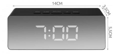dimensiuni ceas multifunctional 4 in 1 cu afisare Led Negru
