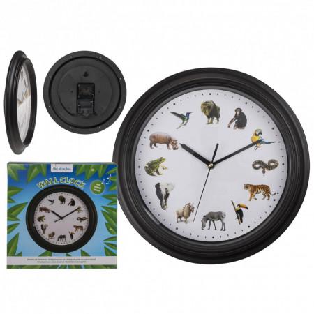 ceas de perete cu sunete de animale si cutie