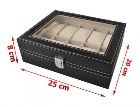 Cutie ceasuri 10 compartimente dimensiuni