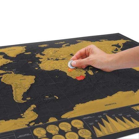 Harta razuibila a lumii Editia Deluxe Luckies 1