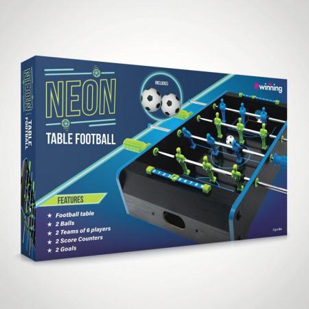 joc fotbal de birou neon in cutie