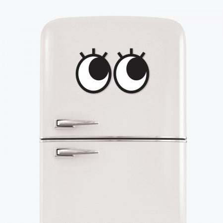 Ochi magnetici cu gene pentru frigider Googly Eyes Lashes