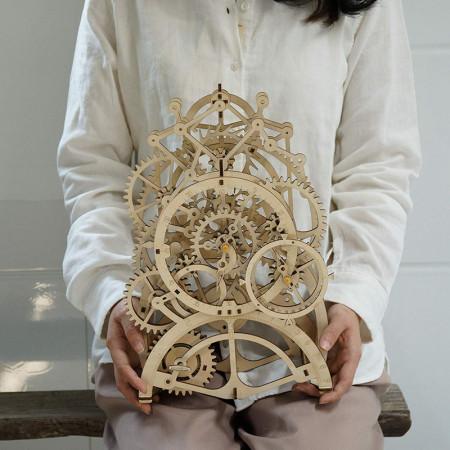 puzzle 3d din lemn ceas cu pendul 2