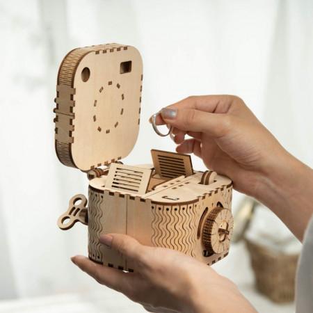 puzzle 3d din lemn cutie comori 2
