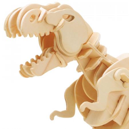 puzzle 3d din lemn dinozaur t-rex controlat prin sunet 3