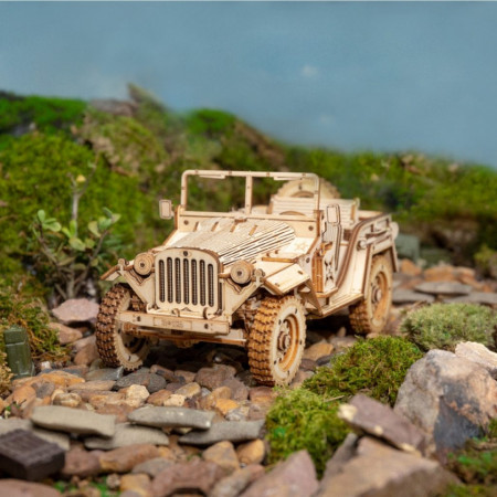 puzzle 3d din lemn masina militara 5