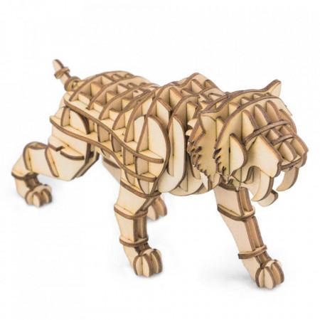 Puzzle 3D din lemn Tigru