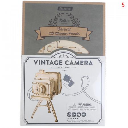 cutie Puzzle 3D din lemn Vintage Camera