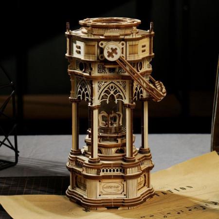 Puzzle 3D lemn Cutie muzicala Lampa victoriana 1