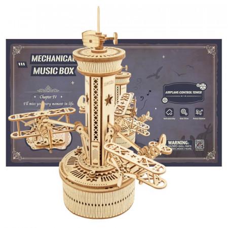 Puzzle 3D lemn Turn de control si cutie