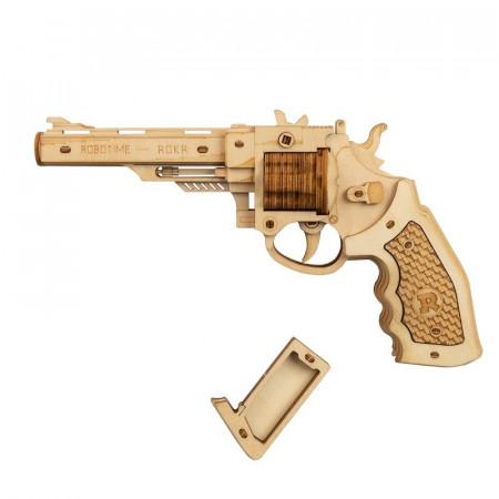 Puzzle 3D lemn Pistol
