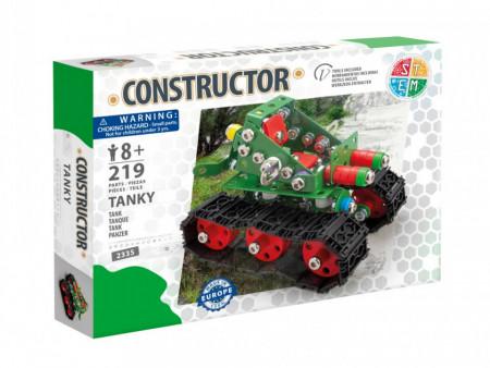 Set constructie Tanc Tanky, 219 piese in cutie